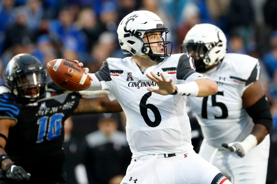 Ben Bryant draws back to pass against Memphis on Nov. 29. The loss to the Tigers in the regular-season finale was Bryant's first career start.