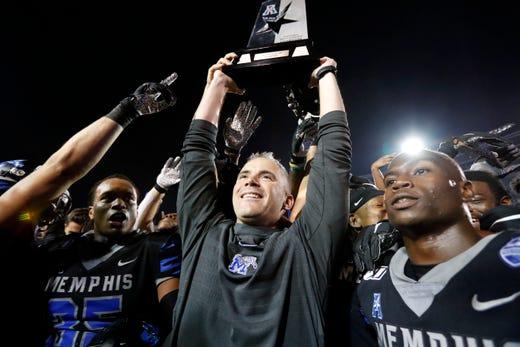 Memphis Football Vs Cincinnati Tigers Coach Mike Norvell
