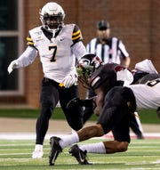 Appalachian State defensive back Josh Thomas (7) against Troy in first half action on the Troy campus in Troy, Ala., on Friday, November 29, 2019.