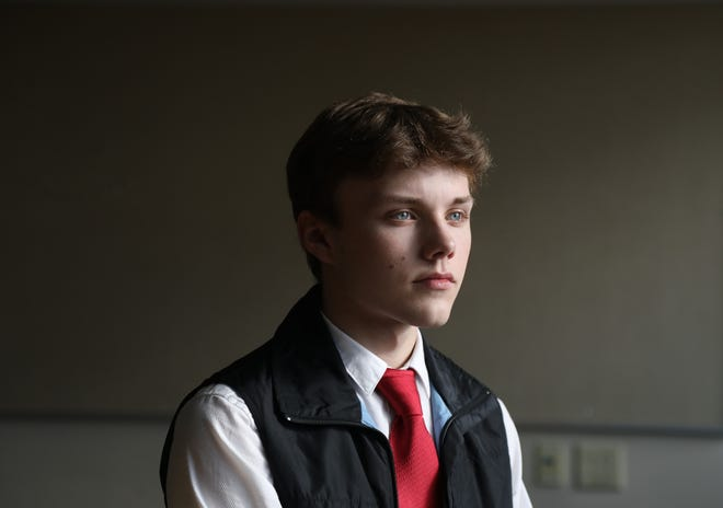 A supporter of President Trump and a Republican leader in Burlington,18 year old Kolby LaMarche attends Community College of Vermont in the nearby suburb of Winooski.