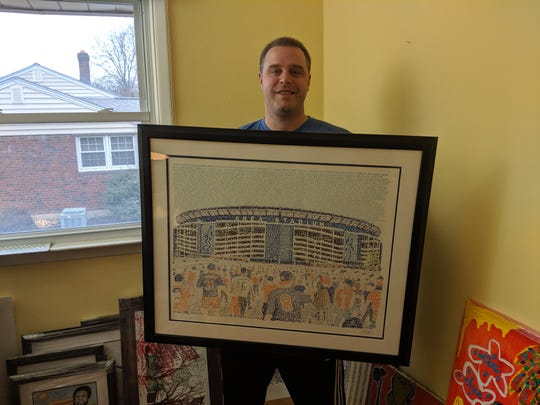 Daniel Duffy is a Phillies fan, so he felt conflicted when creating the Shea Stadium piece.