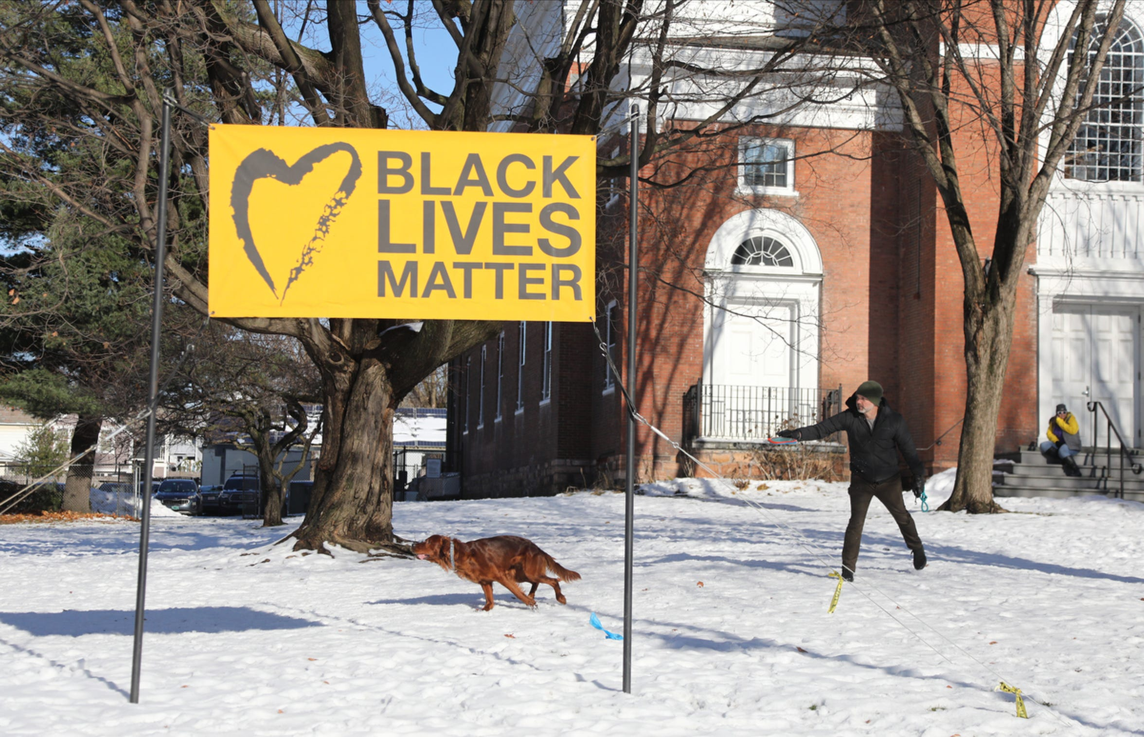 "Expressions of social justice can be found all over in Burlington like this sign that supports ""Black Lives Matter"" at the Unitarian Church on Main St."