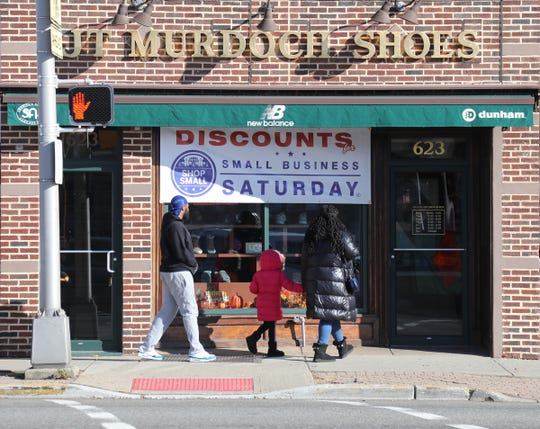 JT Murdoch Shoe Store on Bloomfield Ave. in Bloomfield store participating in Small Business Saturday on November 30, 2019.