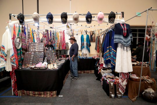 Vendor booths are set up at the Cabazon XXXVIII Indio Powwow at Fantasy Springs Resort Casino in Indio, Calif., on Friday, November 29, 2019.