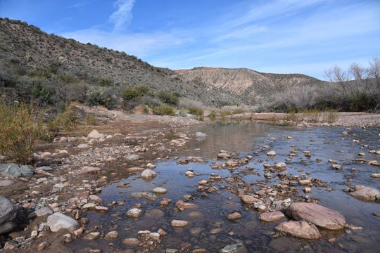 Flows in Tonto Creek increase dramatically after rainstorms, then subside as conditions dry out.