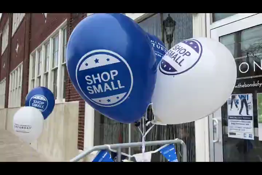 Merchants in York City's Royal Square district celebrate Small Business Saturday with freebies and fun to thank customers.