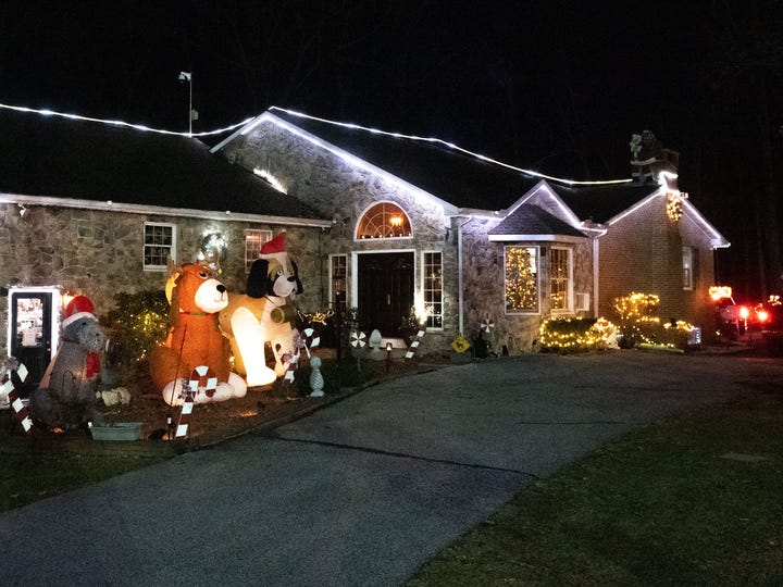 Donald Webb's Christmas display is located right off of Chestnut Hill Road, November 29, 2019.