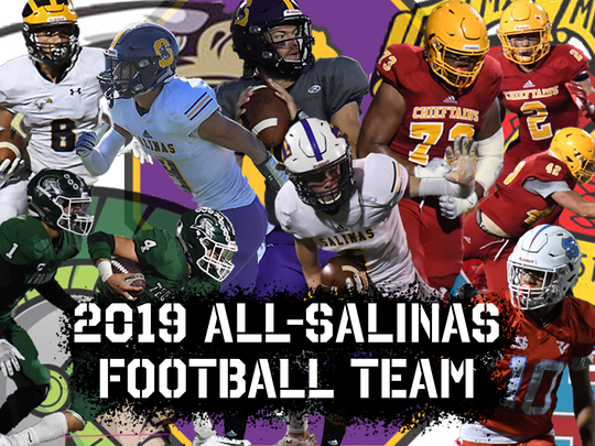 The 2019 All-Salinas Football Team includes players from Salinas, Everett Alvarez, Alisal, Palma and North Salinas.