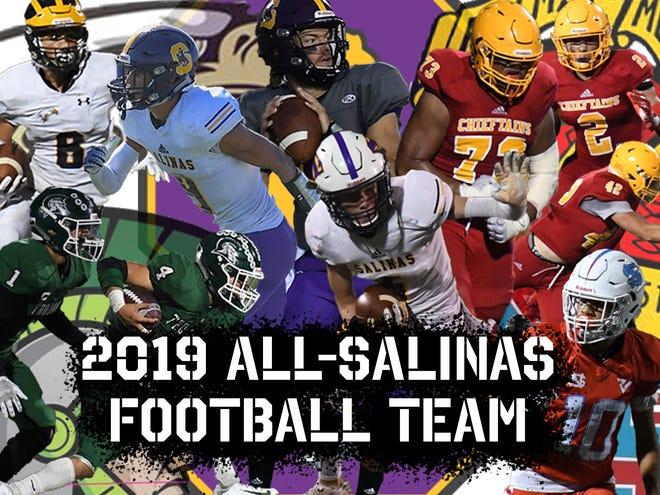 The 2019 All-Salinas Football Team includes players from Salinas, Everett Alvarez, Alisal, Palma and North Salinas.
