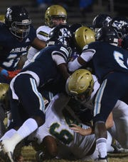 Airline vs. Acadiana in a LHSAA Class 5A state quarterfinal football game Friday evening, November 29, 2019, at Airline High School.