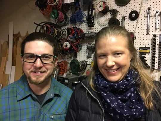 Steven Belcher and Jessica Locke talked about their Black Friday shopping in Branson and handcrafted gifts at a neighborhood gathering they attended on Nov. 29, 2019.