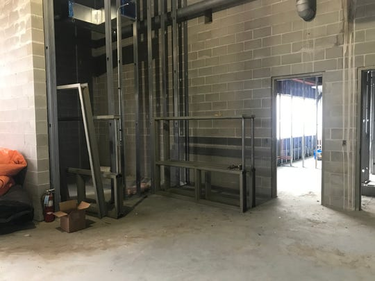 The unfinished safe room that will be open to the public at the Sartell Public Safety Campus Monday, Nov. 18, 2019
