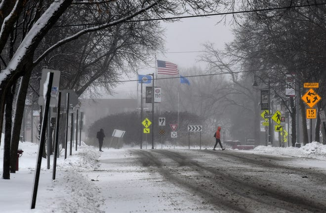 A Thanksgiving weekend storm dumped a total of 5.2 inches on St. Cloud, shown here Saturday, Nov. 30, 2019.
