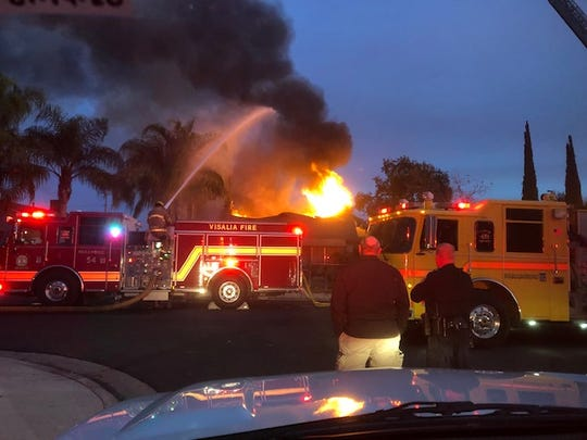 Visalia firefighters were called to a residential structure fire at 1000 W. Sweet Ave. on Saturday, November 30, 2019.