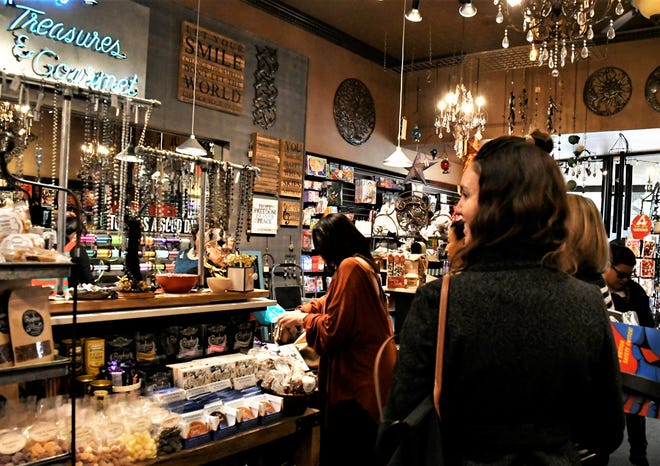Pacific Treasures in downtown Visalia relocated after its building was destroyed in a December 2018 fire. The business celebrated its first Small Business Saturday at its new location at 114 E. Main St.