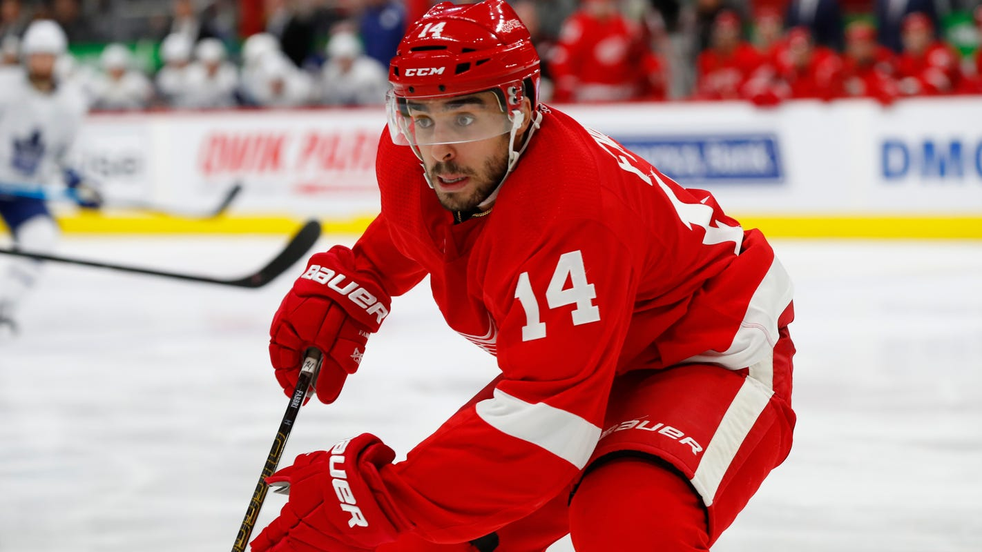 Robby Fabbri glad to be with Red Wings and producing offensively