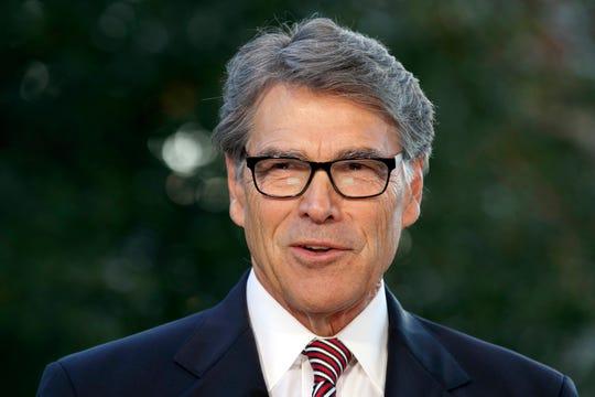 Outgoing Energy Secretary Rick Perry