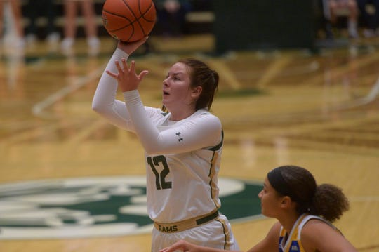Jamie Bonnarens, shown taking a shot in a Dec. 1 game against UC-Riverside at Moby Arena, and her teammates on the Colorado State women's basketball team got a lesson in women's basketball during a trip to Tennessee that included a 79-41 loss Wednesday night to the 23rd-ranked Lady Vols.