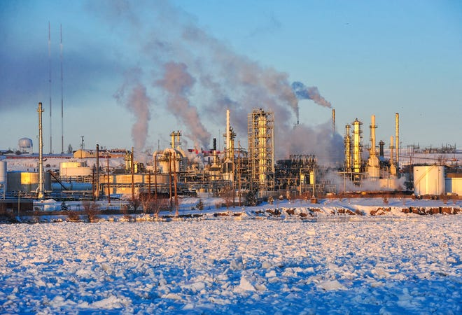 A view of the Calumet refinery in Great Falls.