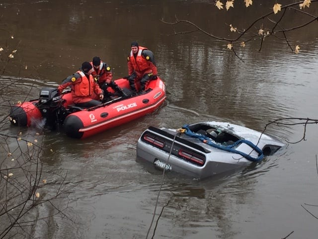 The Lansing Police Department recovered a stolen vehicle Sunday out of the Red Cedar River.