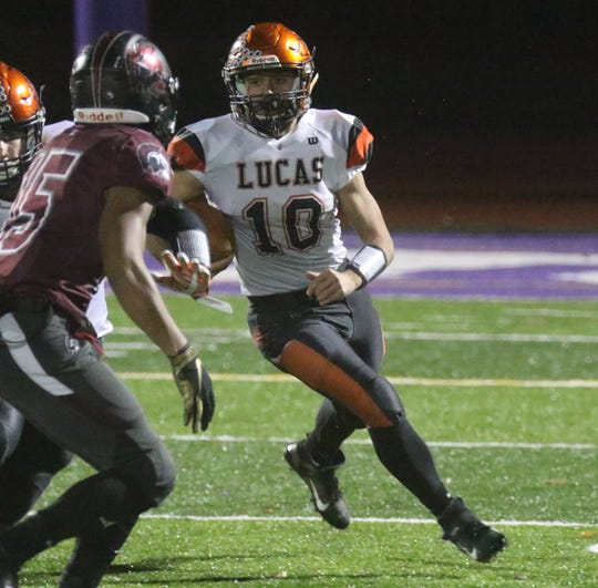 Lucas' Ethan Sauder is the team's second leading rusher with more than 1,300 yards.