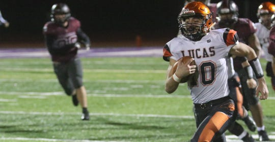 Lucas' Ethan Sauder is the perfect compliment back in the Cubs' backfield and could break a big play in the state title game.