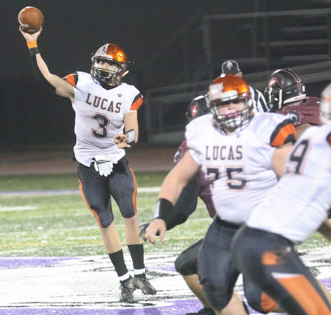 Lucas' Logan Niswander (3) and Blake Coffman (75) earned All-Ohio honors in Division VII.