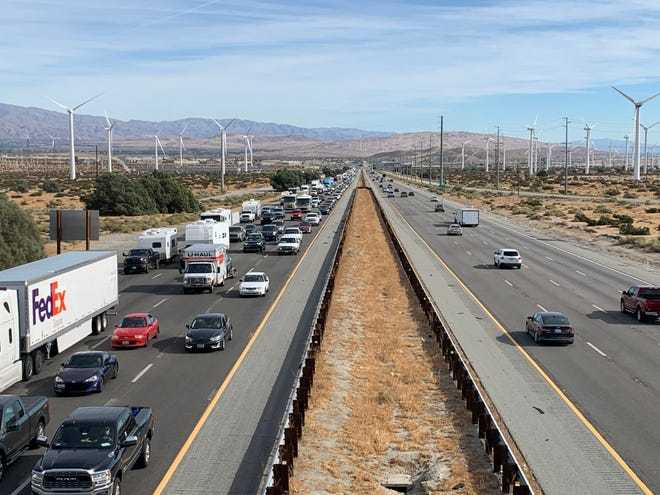 The I-10 Tune-Up includes replacing guardrails, repaving outside lanes, replacing slabs in inside lanes and upgrading various on- and off-ramps to comply with the Americans with Disabilities Act.