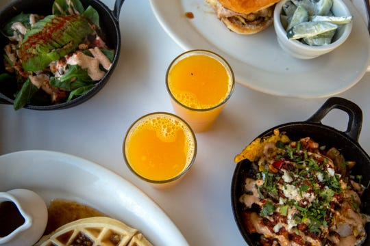 Freshly squeezed orange juice at the Cast Iron Cafe on Nov. 14 in Mount Angel, Ore.