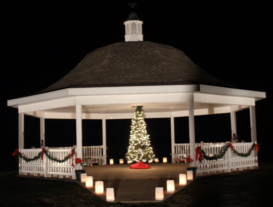 The waterfront gazebo will be among the structures lit up during the 2019 Luminaria Event and House Tour, set for Dec. 21 in Vienna.