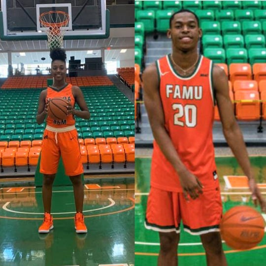 Tyshonne Tollie (left) and Jai White recently signed with FAMU. Both players will join the women's and men's squads for the 2020-21 season.