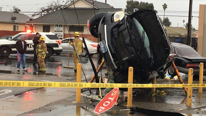 This was the scene Saturday at the site of a traffic accident at Channel Islands Boulevard and San Marino Street in Oxnard.