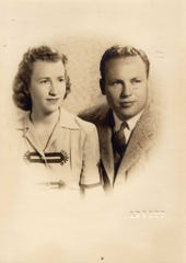 A photo of John and Charlotte Henderson from early in their relationship. The couple was recently named the oldest living married couple on the planet by Guinness World Records.