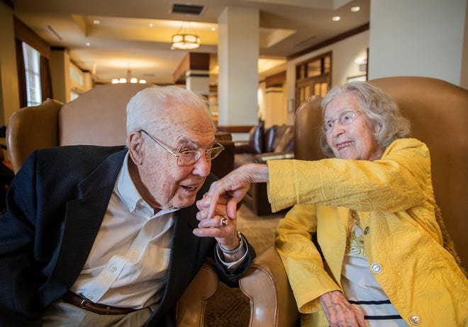 John and Charlotte Henderson are the oldest living married couple on the planet, according to Guinness World Records. The Austin couple has a combined age of 211 years John is 106 and Charlotte is 105 years old. On December 15, they'll celebrate 80 years of blissful marriage.