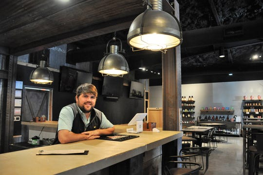 Tanner Evans designed the back half of Circle T Outfitters as a hang-out place with beer-and-wine service.