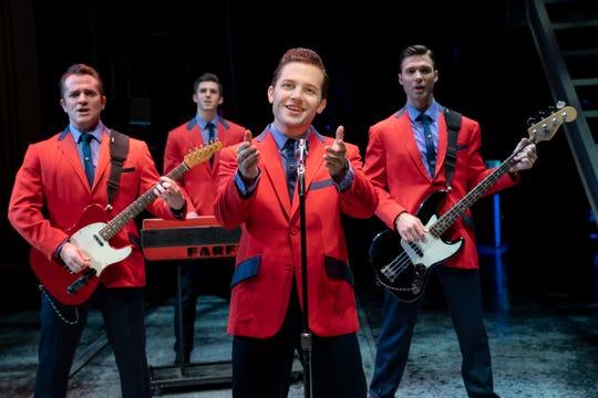 "Corey Greenan, Eric Chambliss, Jon Hacker and Michael Milton star in the Second National Tour of ""Jersey Boys."""