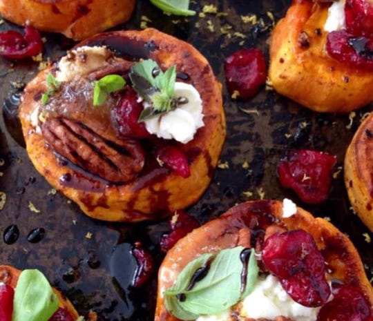 Holly Aaron celebrates the holidays each year with a family favorite, Roasted Sweet Potato Rounds.
