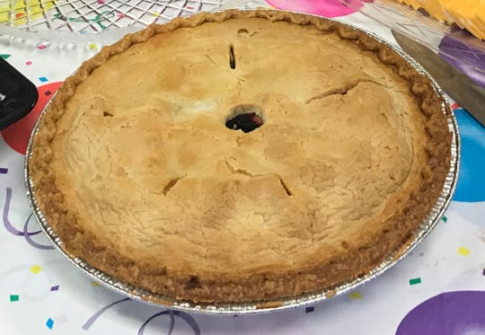 A mix of peach, cherry and blueberry, Homestead Farm Market's peachberry pie is sure to become an annual addition to the holiday table.