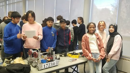 Thomas Edison EnergySmart Charter School robotics team participated in the FTC meet-up event at Kean University