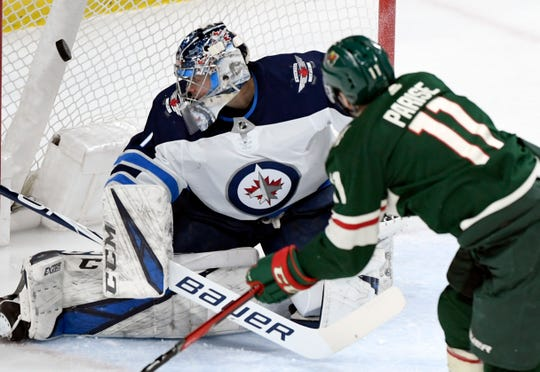 New Red Wings goaltender Eric Comrie was 2-3-0 with a 4.21 GAA and .870 SVS in five career starts for Winnipeg, who selectedComrie in the second round of the 2013 NHL Entry Draft.