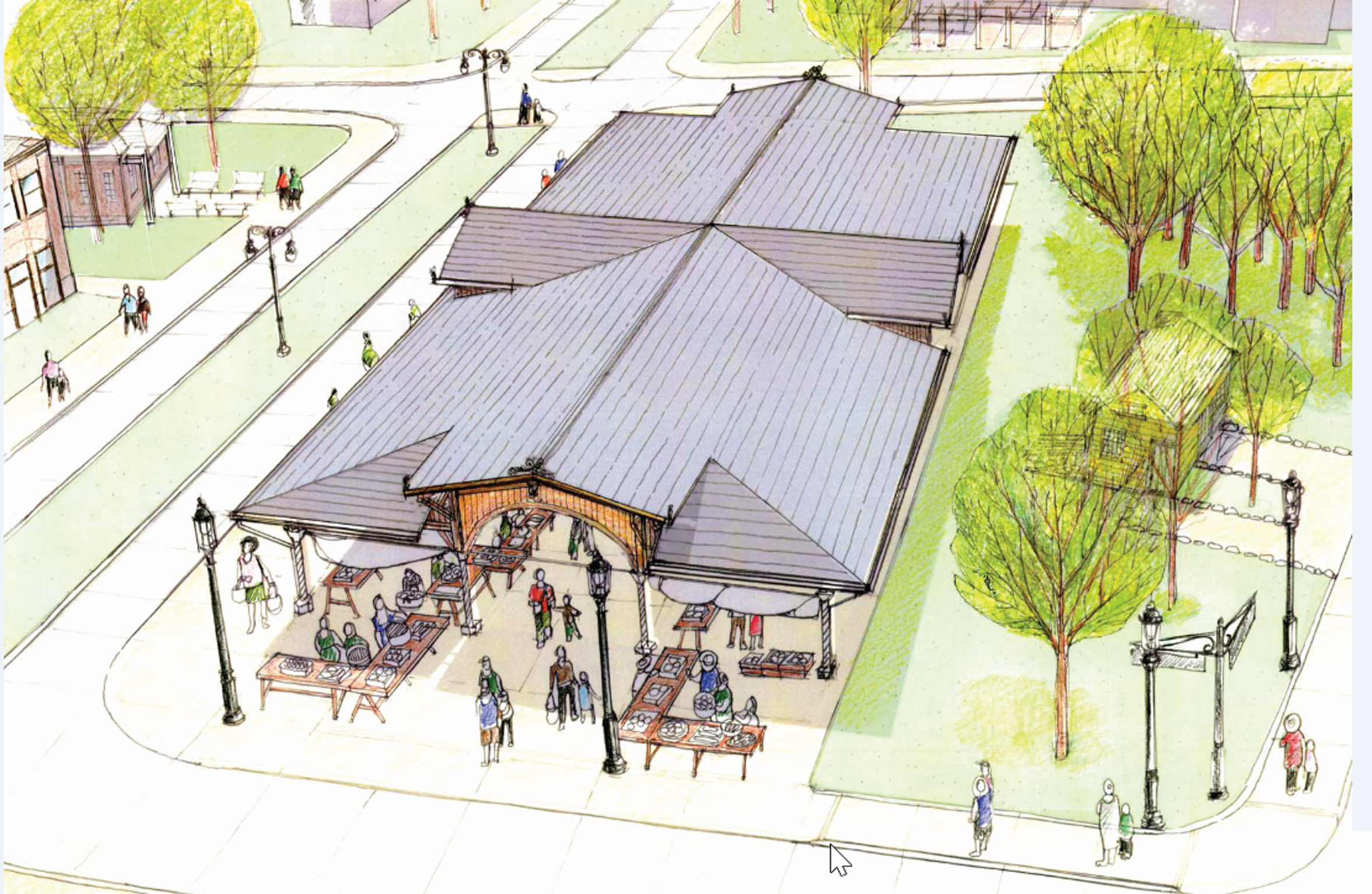 A rendering of Detroit Central Farmers Market.