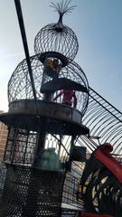 The highest point of the three-story-plus climbing structure at the City Museum in St. Louis.