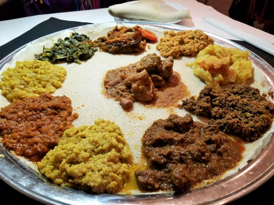 A delicious Ethiopian meal at Meskerem in St. Louis.