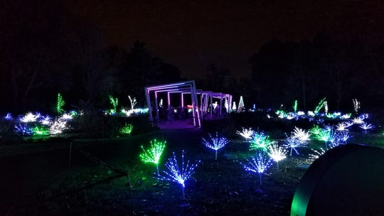 Part of the Garden Glow light experience at the Missouri Botanical Gardens in St. Louis.