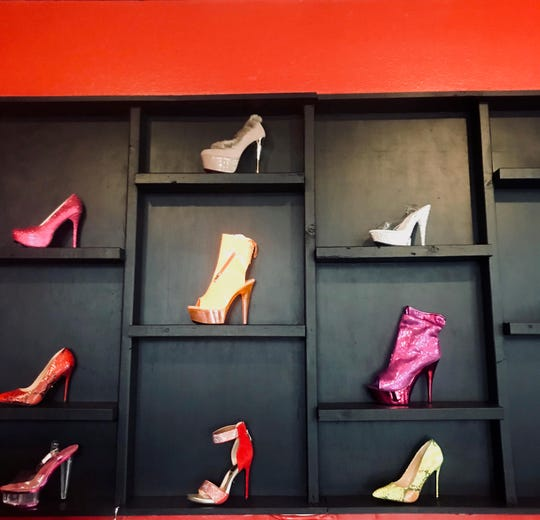 Shoes sold at Jasmine's Red Room