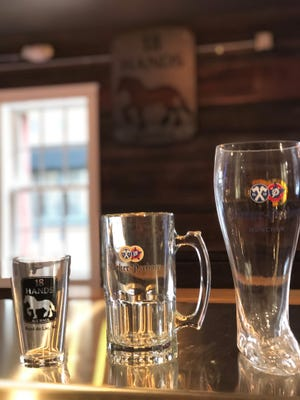 "Beers at 18 Hands Ale Haus will come in three sizes: a pint, 32-ounce mug and ""das boot"" — a large glass, 34-ounce boot."