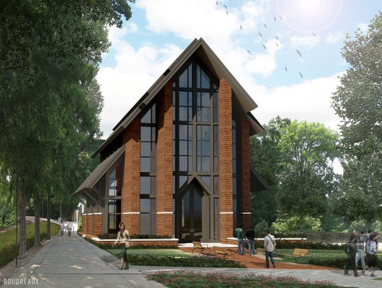 A rendering of the Cadden Chapel on Clemson's Campus. Construction is set to be completed at the end of next year.