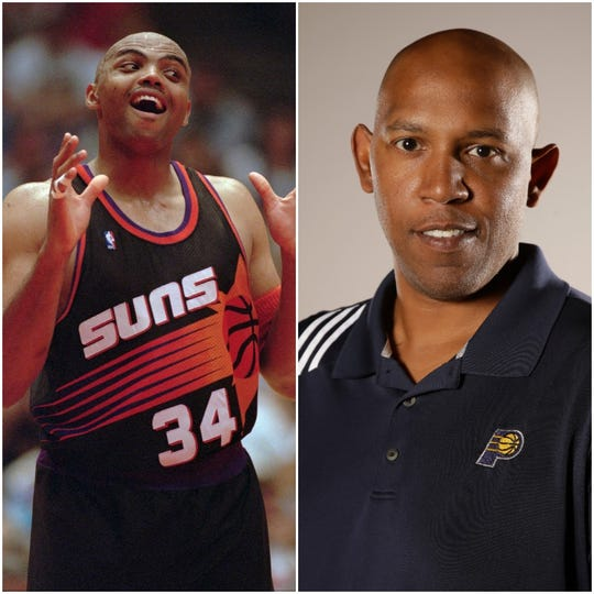 Charles Barkley (left) said he hated playing against Pacers assistant and former player Popeye Jones (right)
