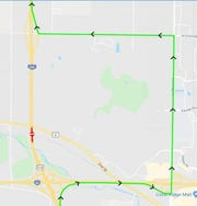From Tuesday, Dec. 3 at 7 p.m. until Wednesday, Dec. 4 at 6 a.m., the section between I-80 and Forevergreen Road on I-380 north will be closed due to construction. The detour is shown in green.
