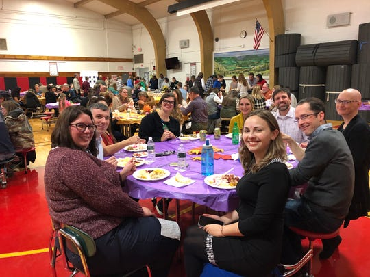 The first Friendsgiving feast for Spencer-Van Etten school staff and families and retirees was a great success.